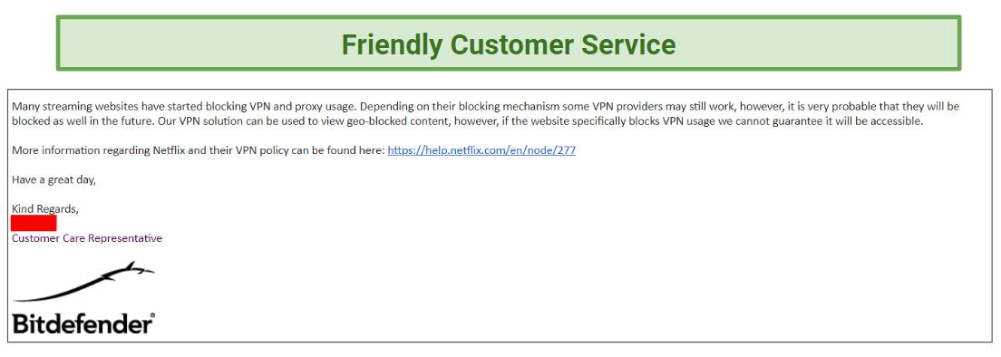 Bitdefender customer support