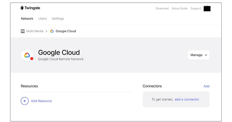 Google Cloud Connect Twingate