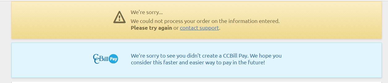 Error CoverMeVPN credit card payment
