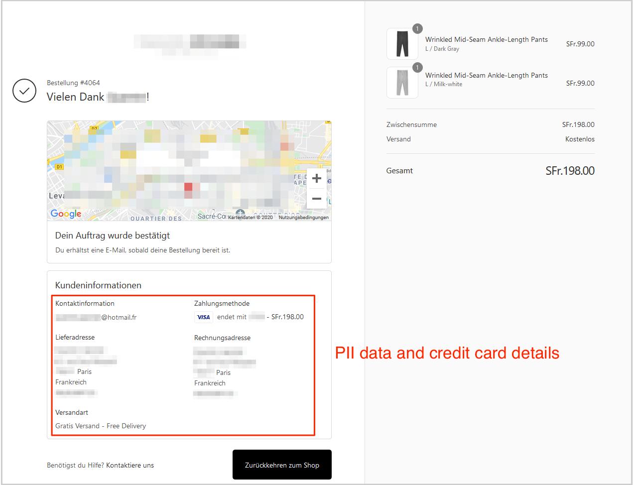 Shopify app data leak