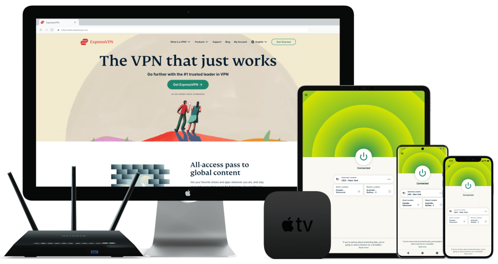 Assortment of devices that work with ExpressVPN