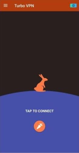 A screenshot of Turbo VPN's mobile app